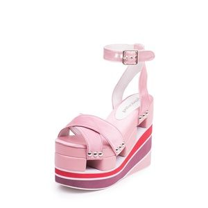 Jeffrey Campbell Monetta Pink Platform Sandals